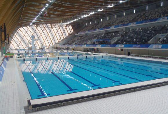 tatarstan aquatic complex, Tatarstan Sportcomplex, Kazan, Rusland, zwembad, beweegbare bodem, duikpit